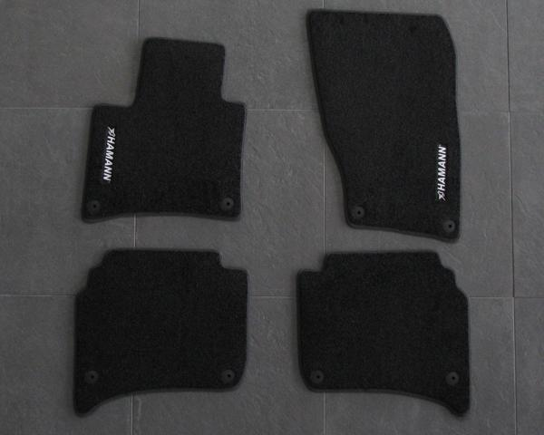 exclusive floormat set lefthand drive vehicles in deeppile velours black with