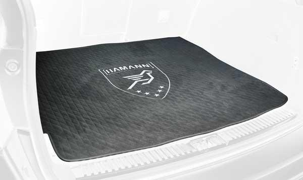 Accessories exclusive trunk mat in alcantara quilted with decorative stitching and HAMANN logo in silver embroidery