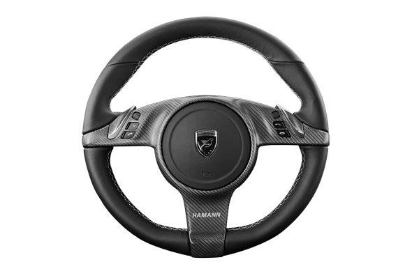487,50 airbag sport steering wheel 3spoke design in leather black with applications in alcantara including HAMANN