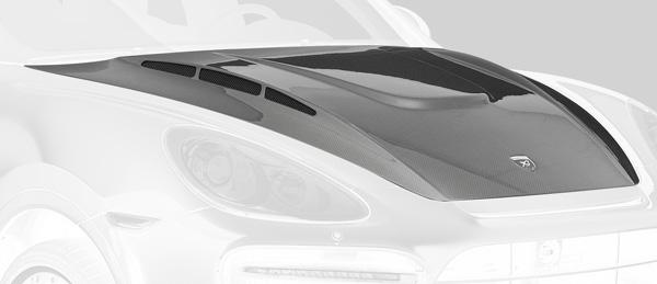 Aerodynamics in Carbon bonnet in clearcoated carbon black with additional air intakes up to MJ 11/2014