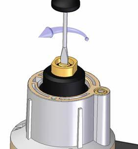 Step pressure adjustment (see fig. 12.) 1. Remove the cap from top of the coil by loosening both screws. 2.