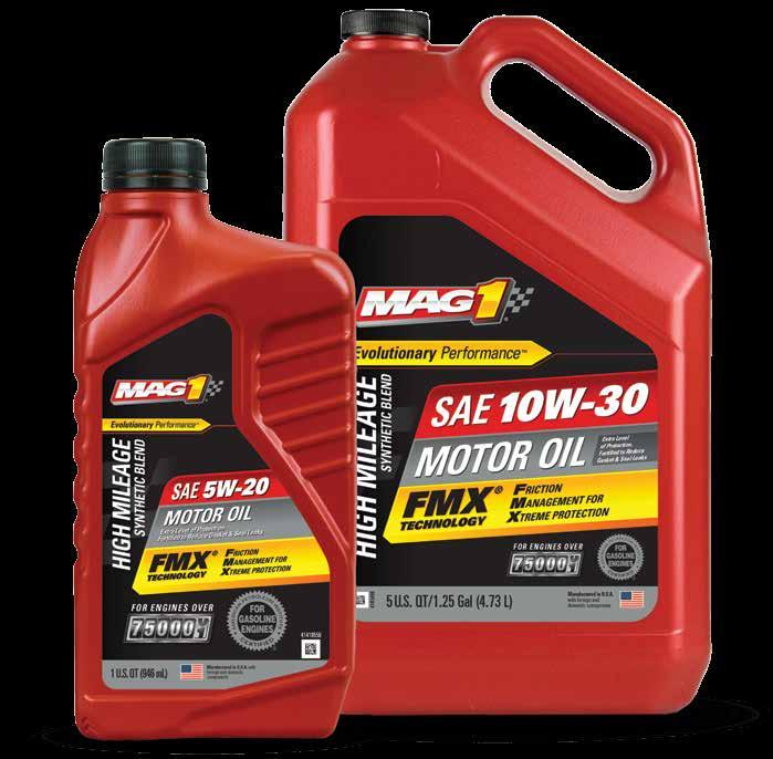 HIGH MILEAGE SYNTHETIC BLEND * * * SAE 10W-40* 6/1 Quart 64829 3/5 Quart 66734 6 Gallon** 65452 55 Gallon 64831 6/1 Quart 64835 3/5 Quart 66732 6 Gallon** 65451 55 Gallon 64837 330 Gallon 67694 6/1