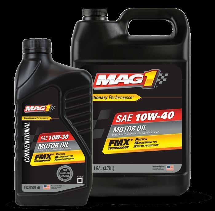 CONVENTIONAL MAG 1 Motor Oils are formulated for older vehicles and/or high-temperature climates, if thicker oil is preferred.
