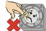 The bearings and the lead wires may be damaged. 11.5 Please do not use the fan in the environment of corrosive gas or liquid. 11.6 Please do not store the fan in the environment of high humidity.