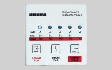 Liebherr therefore only use components from renowned manufacturers which have undergone meticulous testing.