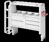 "Literature Holder Compartment 0 --0 Heavy Duty Shelf Unit (for Secure Storage Modules - "" x "" x "") 0--0 Drawer Secure Storage Module ("" x "" x "") --0 Refrigerant Tank"
