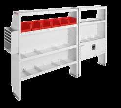 "Drawer Secure Storage Module ("" x "" x "") 0 0--0 Accessory Back Panel (for "" shelf unit ½"" tall) --0 REDZONE hook cord or tool holder 0--0 Shelf Door (for "" shelf unit) * 0--0 Van Shelf Mounting Kit"