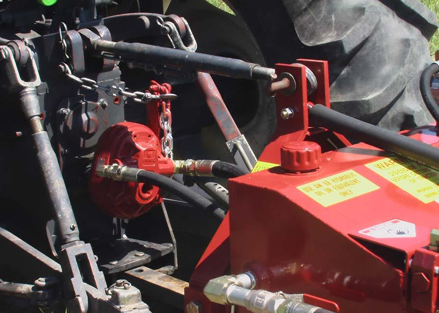 MACHINE SETUP Attachment to Tractor The Lewis Crustbuster can be operated on any tractor equipped with a standard 3- point hitch.