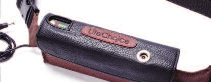 ) If the external battery is connected to the LifeChoice POC, the AC or DC adapter can be connected to the external battery and will charge both batteries and operate the LifeChoice POC