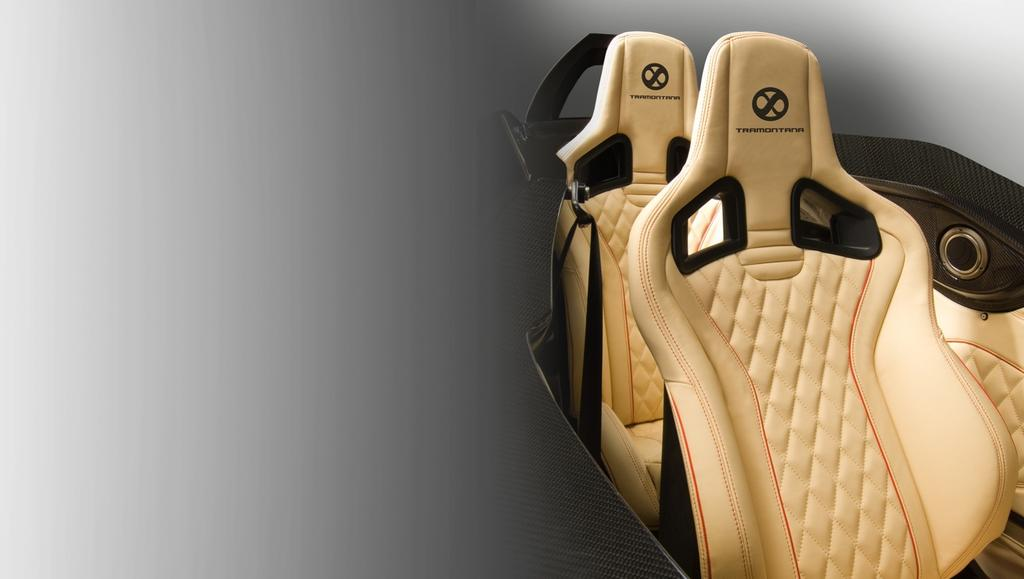 OPTIONAL EQUIPMENT: CUSTOM LEATHER INTERIOR Full leather upholstery package High quality and resistance bovine leather