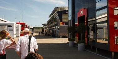 They were accompanied on their fantastic tour of the Silverstone paddocks