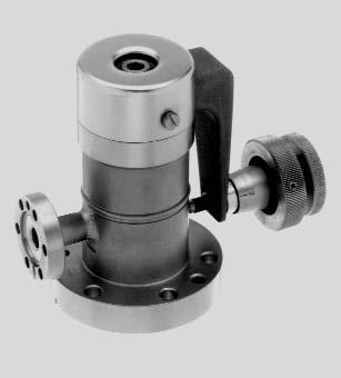 "UHV All-Metal Variable Leak Valves ø46 (1.81"") 32,5 (1.28"") DN 16 CF-R 98,2 (3.87"") M5 DN 40 CF-F 85,5 (3."