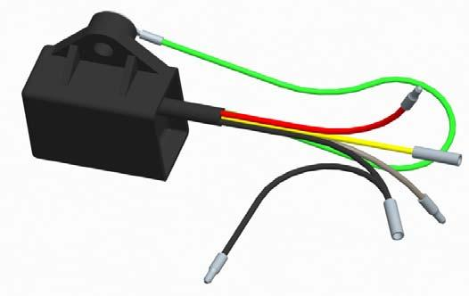 Lamp Indicator Module 5-Wire Installation The wires and their associated circuits are shown below.