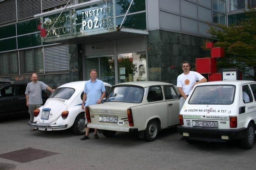 charging station in Croatia in Zagreb a smart charging station in Zagreb put into service and fully operational home-made converted EV owners also charge their vehicles