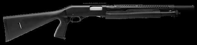 320 SECURITY W/ HEATS SHIELD Pistol Grip // Heat Shield // Dual Slide-Bars // Rotary Bolt // Bead Sight Bottom Load, Right Eject // Sight Rail // Synthetic Stock // Blued Barrel CHOKES CHAMBER DROP