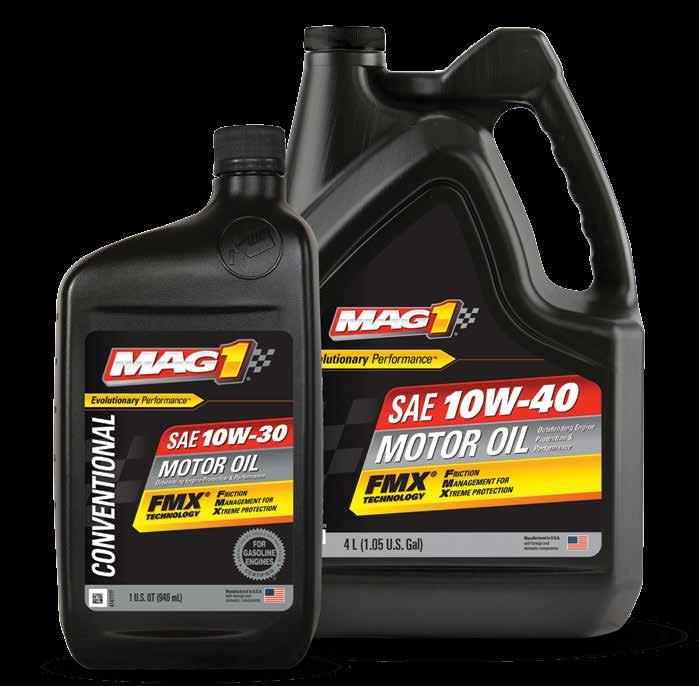 CONVENTIONAL & MONOGRADE MAG 1 & Motor Oil are formulated for older vehicles and/or high-temperature climates, if thicker oil is preferred.