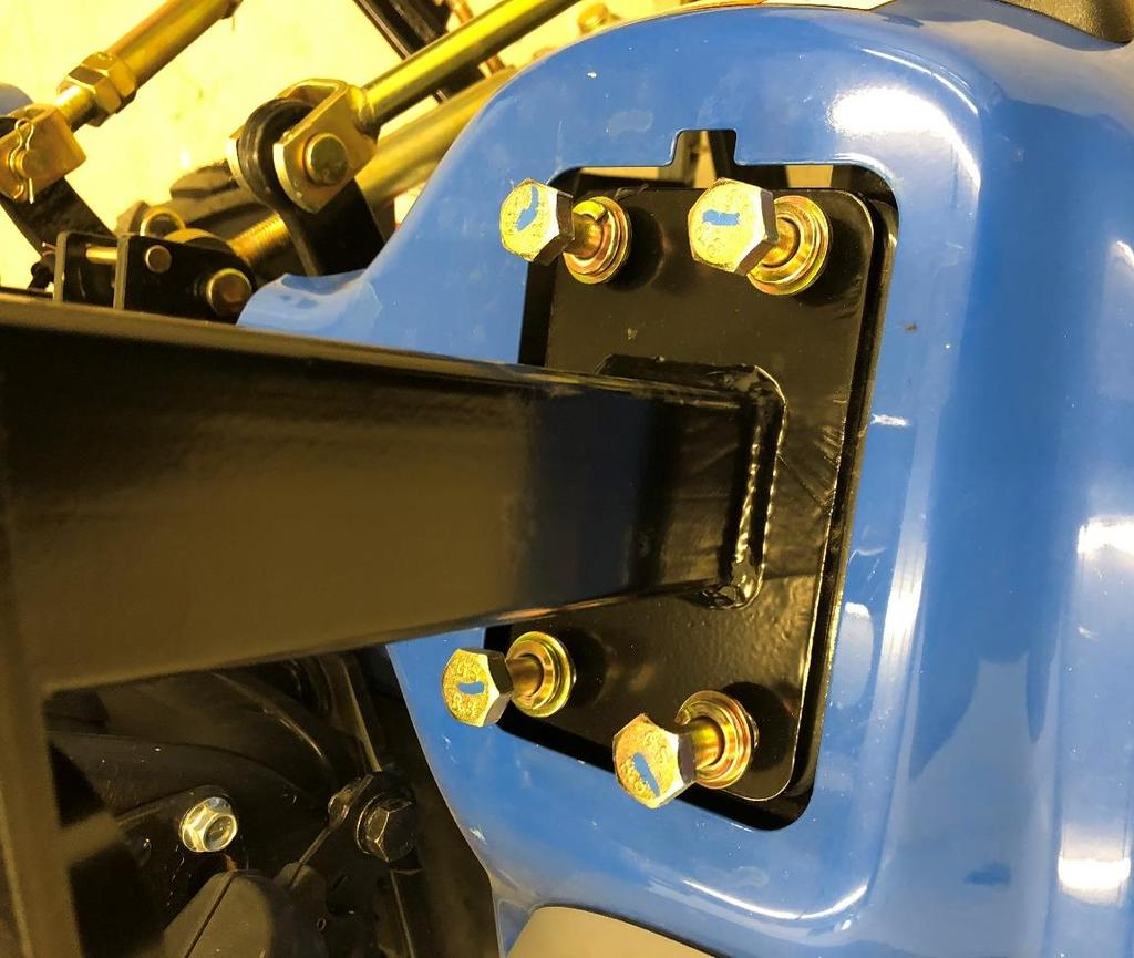 Standard Cab Installation Instructions:. Park tractor in well ventilated work area. Lower all tractor attachments.. Un-bolt the seat belts from the seat and swap sides.