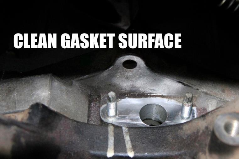 install apply petroleum gel to gaskets.