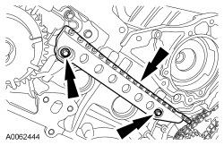 Page 13 of 21 LH cylinder head 36. NOTICE: Damage to the camshaft phaser sprocket assembly will occur if mishandled or used as a lifting or leveraging device.