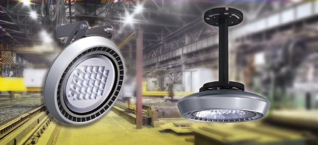 LED Industrial Lighting Advantages of IL450 Application - Mid Bay Proprietary Reflector and Optics enabling glare-free uniform lighting for all working