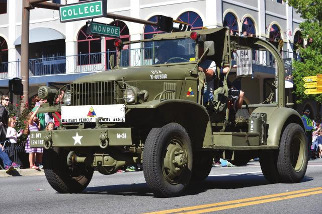 John Booth brought his 1944 M6 Bomb Truck.