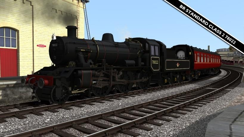 BR Standard Class 2MT 78022* A repaint of Digital Traction s BR Standard Class 2MT available on Steam HERE BR Standard 2MT 78022 BR Black Loco [KWVR] BR Standard 2MT 78022 Early Crest Tender Late