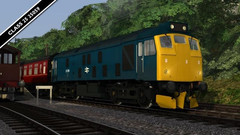 BR Class 25 25059* Repaint of Class 25 loco from the Weardale route available on Steam HERE.