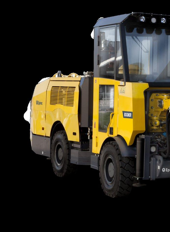 Prime performance packed into a small, versatile unit The Boomer T1 is an ideal rig for narrow vein mining.