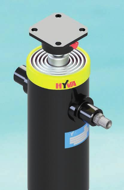 UNDERBODY CYLINDERS AND POWER PACK WETKITS Hyva offers a wide range of underbody tipping cylinders, starting from lighter ULB series cylinders for vehicles up to 3T to bigger capacity cylinders from