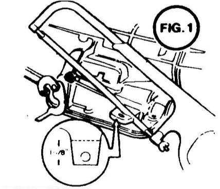WARNING! Installation of Quarter Stick shifter on Powerglide transmission eliminates throttle pressure control linkage (kickdown valve).