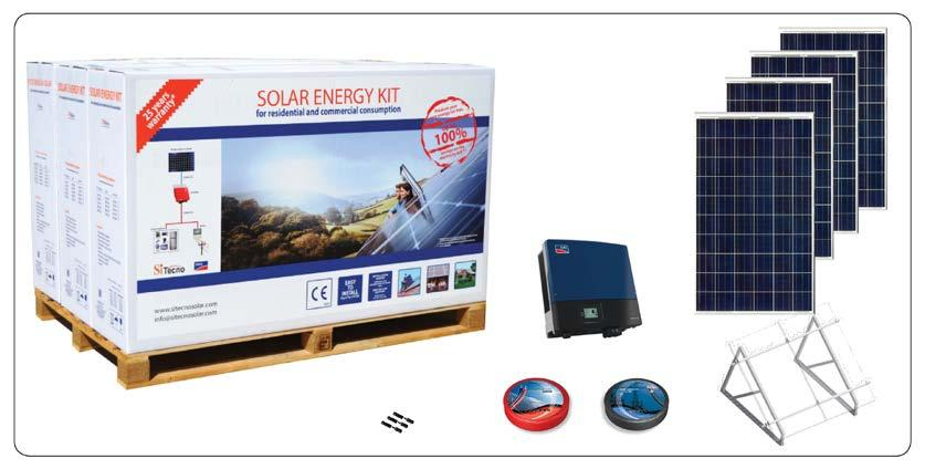 SOLAR ENERGY KIT MODEL: SISMA-CT20000 Introduction: SITECNO solar energy kit is on-grid PV system, a complete solution which generates electrical energy for self-consumption and feed surplus energy