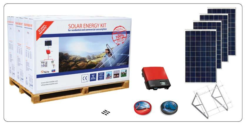 SOLAR ENERGY KIT MODEL: SISMA-CS3500 Introduction: SITECNO solar energy kit is on-grid PV system, a complete solution which generates electrical energy for self-consumption and feed surplus energy in