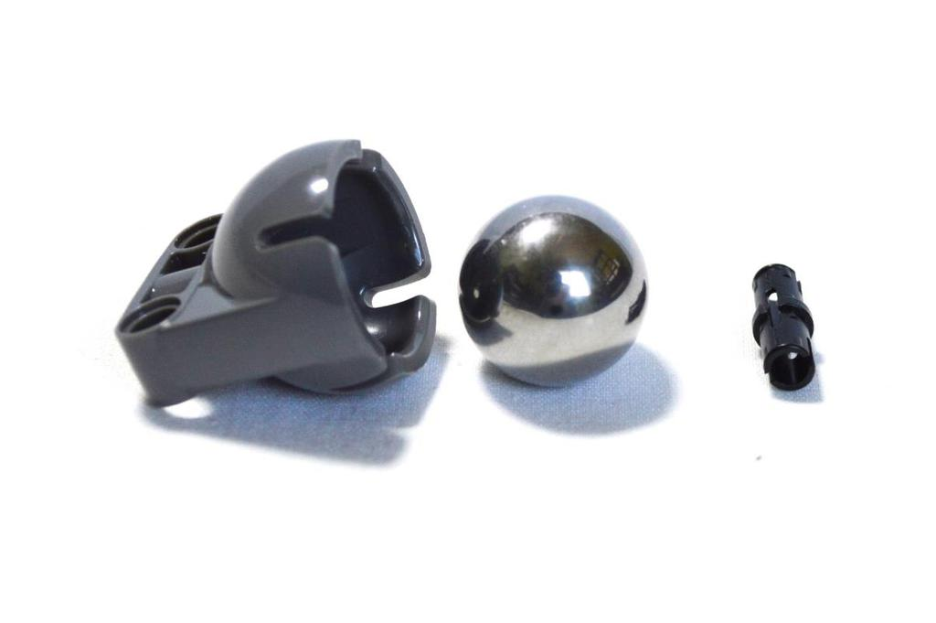 3 Step Place the Ball Bearing, Steel Ball, and