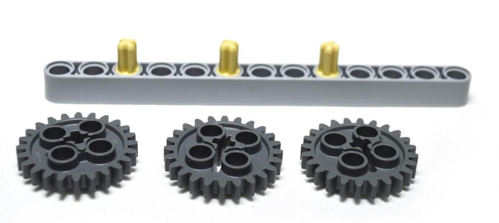 ACTIVITY < Three Gear Drive > 57 In this activity, we will explore meshing gears we will observe how the direction of the driven gear is opposite to
