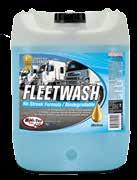 CLEANING DETERGENTS SPECIALTY PRODUCTS FLEET WASH Hi-Tec Fleetwash is a coconut oil based detergent formulation containing inorganic phosphates for the purpose of removing dirt, mud, oil film and