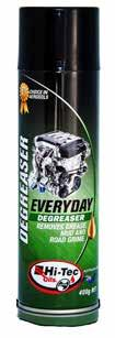 AEROSOLS SPECIALTY PRODUCTS MECHANICS DEGREASER Hi-Tec Mechanics Degreaser is a rapid action solvent based aerosol grease remover specially formulated for motor mechanics, trades people and consumers