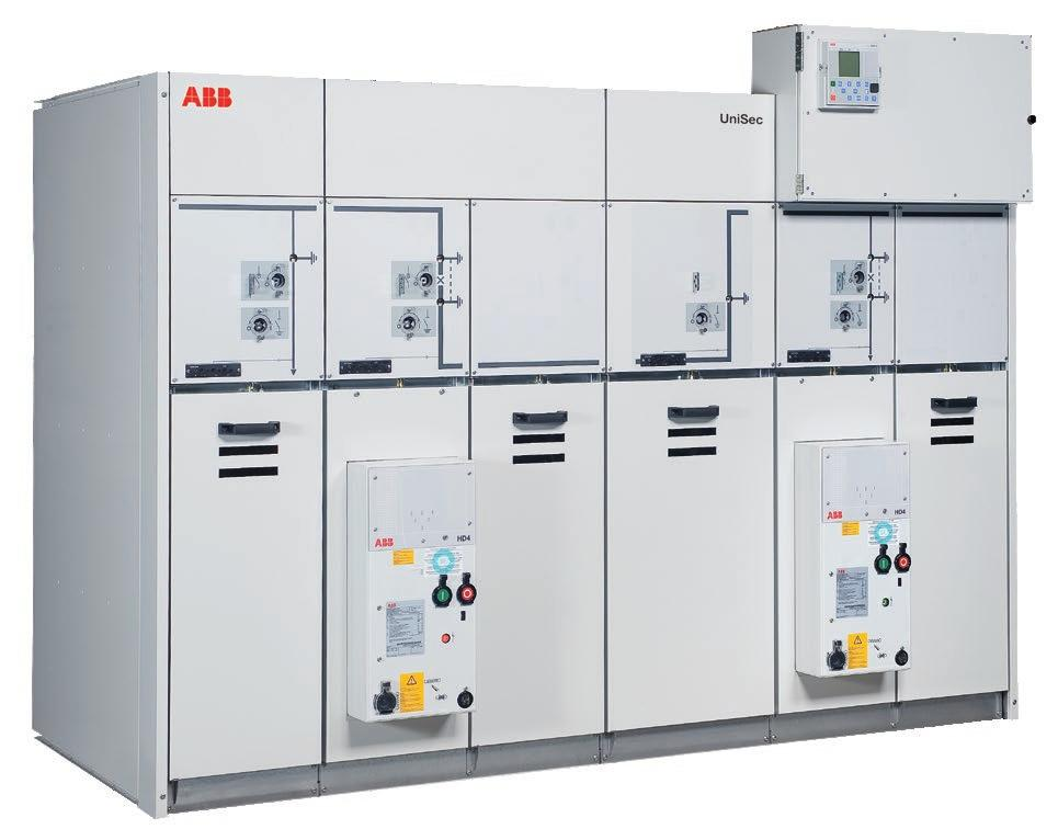 DISTRIBUTION SOLUTIONS 5 The UniSec is a switchgear with compact dimension, flexibility of configuration, easy and fast installation combined with high mechanical and electrical performance, for all