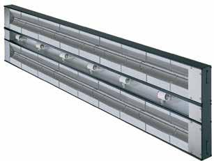 Glo-Ray Dual Infrared Strip Heaters Create a deeper holding area with Glo-Ray Aluminum Dual Infrared Strip Heaters mounted side-by-side, keeping hot food at optimum serving temperatures.