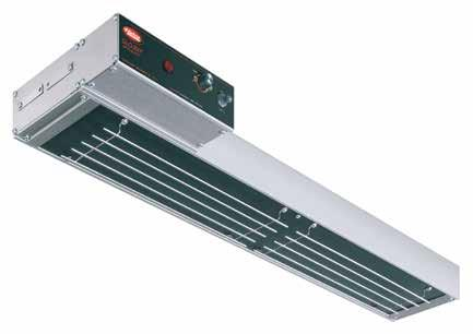 Glo-Ray Infra-Black Strip Heaters For foodwarming at a close range to food product, the Glo-Ray Infra-Black heat technology is ideal, emitting a solid panel of uniform heat.