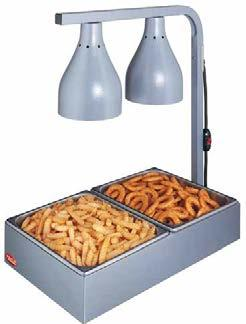 Portable Lamp Warmer The Portable Hatco Lamp Warmer has a specially designed stand that keeps food holding pans above the countertop and provides insulation to extend holding times.