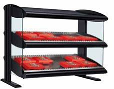Heated LED Merchandisers The new Heated Merchandiser with LED lighting is sleekly designed to safely hold hot packaged food to attract your grab-and-go customers.