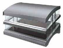 Glo-Ray Heated Glass Merchandisers Hatco's Glo-Ray Heated Glass Merchandisers are perfect for holding hot wrapped or boxed foods on a buffet line or customer serving areas and feature a curved top