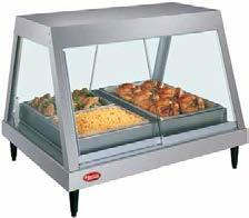 Glo-Ray Heated Display Cases Designed for show and sell areas in any foodservice operation, the Hatco Glo-Ray Heated Display is perfect for hot food merchandising.