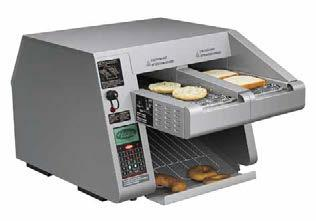 Intelligent Toast-Qwik Hatco s Intelligent Toast-Qwik allows the operator to toast multiple products at the touch of the button, changing easily from bagels and toast to hash browns and garlic bread
