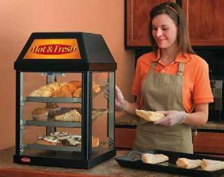 Mini Display Warmers The Hatco Mini Display Warmer is perfect for cookies, pastries, wrapped or boxed sandwiches or any other product that does not require humidity.