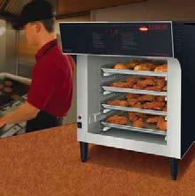 Flav-R-Savor Heated Air Curtain Cabinets The patented Flav-R-Savor Heated Air Curtain Cabinet effectively and safely holds hot food hot without the use of doors, allowing immediate access to product.