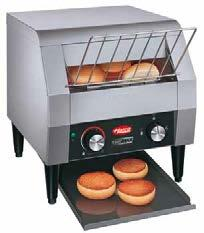 Toast-Max features an easyto-use 4-position toast selector switch with Off / Toast / Buns / Stand-by.