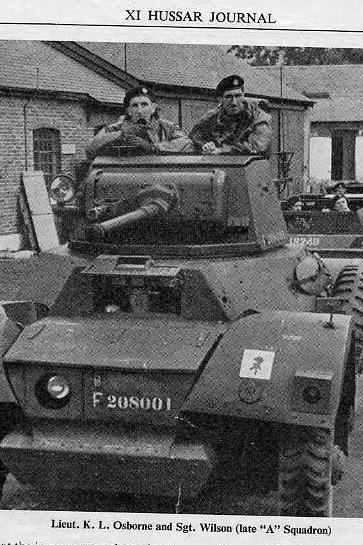 Photo courtesy of John Plumb THE BRITISH ARMY IN NORTH-WEST EUROPE Photographer: Unknown Description: Daimler armoured car