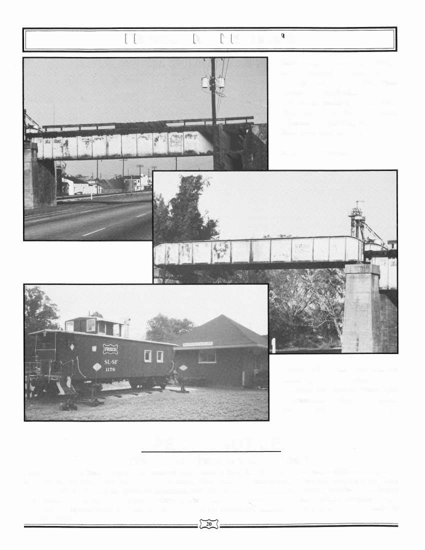 Both bridge photos are of bridge #863.3, located at Atmore, AL. The top photo is of a 74' Deck Plate Girder over Nashville, St.