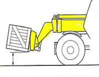 A damaged tyre could burst which would result in a loss of control and a possible accident Procedure for lifting a load- Approach the load squarely Stop when forks are about 200mm from the load